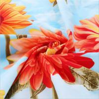 Buy cheap 100% Cotton Fabric Whith Flower Printed from wholesalers