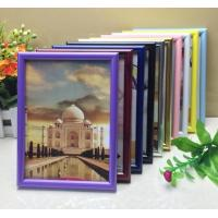 China PVC plastic hand-make high quality photo frame with different color available on sale