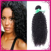 Buy cheap Kinky Curl Indian Human Hair Extensions Natural Black Without Chemical from wholesalers