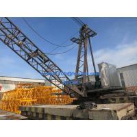 QD100 Derrick Tower Crane 10t load 18m Luffing Jib Working Test at Factory for sale