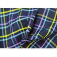 Plain Style Yarn Dyed Fabric Multi Clolor Grid Pattern For Garment