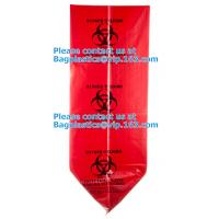 Wholesale Customized LDPE 40-45 gallon red isolation infectious waste bag biohazard bag linear from china suppliers