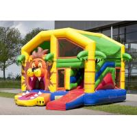 Wholesale Jumper Lion Bounce House Combo With Roof / Mutiplay Overdekt Leeuw Toddler Bouncy Castle from china suppliers