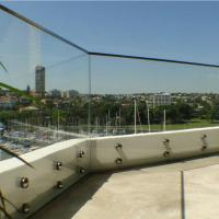 Wholesale Outdoor Frameless Balcony Glass Balustrade with Stainless Steel Glass Standoff from china suppliers