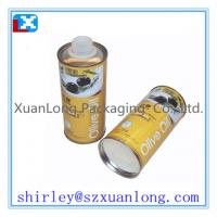 Quality round olive oil tin box for sale