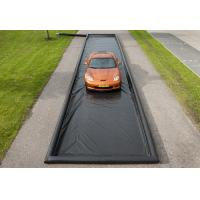 Quality Black Print Car Wash Mats Water Containment Inflatable Wash Pads / Water for sale