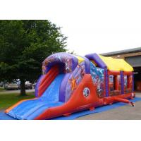 Wholesale 2 Part Assault Course Hero Inflatable Bouncy Obstacle Course Games Summer from china suppliers