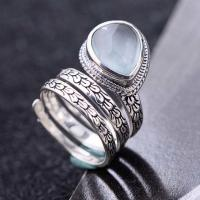 Wholesale 925 Sterling Silver Synthetic Aquamarine Women Retro Ring (060458) from china suppliers