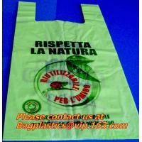 Wholesale HDPE biodegradable bags, biodegadrable T-shirt bag,100%biodegradable bag EN13432 from china suppliers