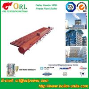 Quality Industrial Steam CFB Boiler Header / Low Loss Headers Low Pressure for sale