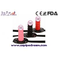 Wholesale Silicone Dildo Gag Oral Sex Penis Mouth Anal Plug Penis Gag With Locking Buckles Leather Bondage from china suppliers