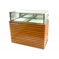 Wholesale Wood / Stainless Steel Base Glass Cake Refrigerator Showcase / Pastry Display Cabinet from china suppliers