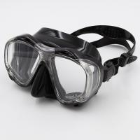 Wholesale Black Liquid Silicone Free Diving Mask With Tempered Glasses Lens from china suppliers