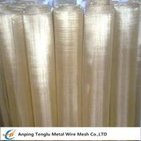 Wholesale Brass Wire Mesh|Square or Rectangle Hole Made by 70 Brass for Filter Liquid from china suppliers