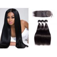 Wholesale Straight Malaysian Hair Weave Bundles With Closure No Mixed Animal Hair from china suppliers