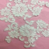 China Ivory Venise Cord Lace Applique for Bridal Gown Wedding Dress decor,one pair on sale