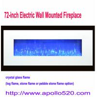 Wholesale 1500W Electric Wall Hung Fireplace Crystal Glass with Heater in white from china suppliers