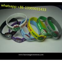 promotional printed fashion glowing in the dark silicone wristband for sale