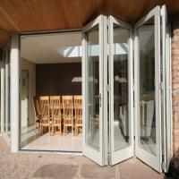 Wholesale Exterior Frameless Bifold Commercial Aluminum Glass Doors Folding Type With Hardware from china suppliers