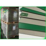 China FSC 1 . 2 mm Good Stiffness Green Book Binding Board One Side Grey Board for sale