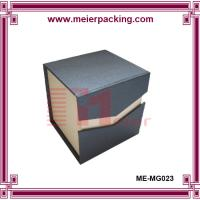 Wholesale black rectangle magnetic closure custom jewelry paper box ME-MG023 from china suppliers