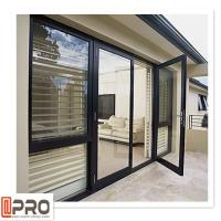 Multi Color Hinged Security Doors , Sound Insulation Aluminium Glass Front Door for sale