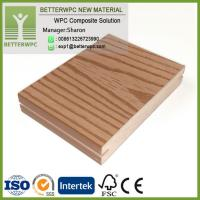 Wholesale UK Outdoor Fireproof 3D Embossed Plastic Wood Planks Floor Waterproof Composite WPC Decking from china suppliers