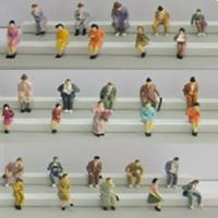 Buy cheap boutique 1:87 seated figure,scale figures,1/87 figures,model people,color HO figures,scale people,model train people from wholesalers