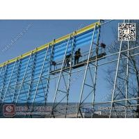 Wholesale 11.5m height Wind & Dust Controlling Fencing System for opening Coal Storage Area | Three Peak Wind Breaker Mesh Panel from china suppliers