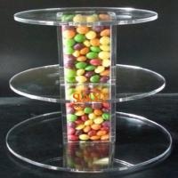 Wholesale Unique Candy Acrylic Clear Food Display Stands 300pcs Tower Tube from china suppliers