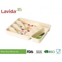 China Heat Resistant Wood Flatware Tray Heavy Metal Free Anti - Bacteria Safe Contact With Food on sale