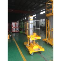 China 8m Aluminum Aerial Work Platform Hydraulic Vertical Lift Table 0.75Kw Lifting Power for sale