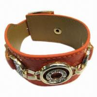 Wholesale PU Leather Bracelet with Metal Accessories from china suppliers