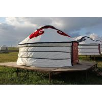Wholesale Floral Comfortable Yurt Tent House With National Features External Decorated Cloth from china suppliers