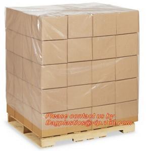 Wholesale Plastic flat bottom vinyl cover /plastic poly pallet cover, Big square bottom poly pallet cover, huge clear plastic pall from china suppliers