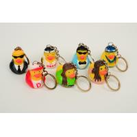 Wholesale Promotion Mini Keychain duck with style of singer ducks and stars ducks from china suppliers