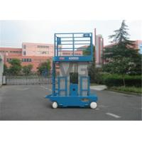 Quality 300kg Capacity Aerial Lift Platform , Dual Mast 10m Height Self Propelled Manlift for sale