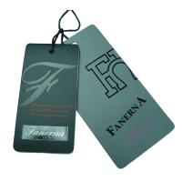 Wholesale Custom Double Printed Black Cardboard Hang Tag For Garments 120 * 60 mm from china suppliers