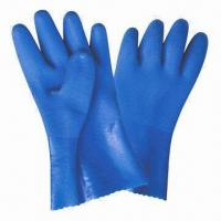 Wholesale PVC Coated Working Gloves with Sandy Finish and 100% Cotton Interlock Lining from china suppliers