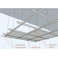 China Spray Painted Replacement Suspended Ceiling Tiles Lightweight ACT-02 on sale