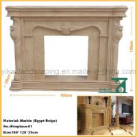 Quality Carved Stone Natural Fireplace Mantel for Indoor Decoration for sale