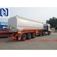 Wholesale CIMC Oil tanker semi trailer 2 / 3 FUWA axles carbon steel / stainless steel 40 to 60 cbm with PIPE AND PUMP from china suppliers
