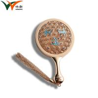 China OEM Personalized Compact Mirror Party Favors , Vintage Stainless Steel Compact Mirror for sale