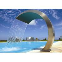 Wholesale Simple Style Stainless Steel Water Fountain , Stainless Steel Pool Water Features from china suppliers