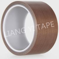 Quality Brown Silicone PTFE Adhesive Tape , High Temperature Resist Teflon Adhesive Tape for sale