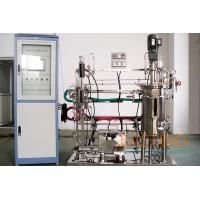 China 10L-100L Stirred Tank Bioreactor Mechenical Wetted Parts SS316L AC Motor With Gear Box for sale