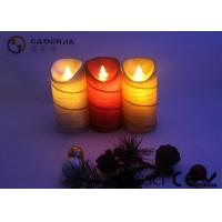 Wholesale Colorful Moving Flame Led Candles Paraffin Wax Material 7.5cm Diameter from china suppliers