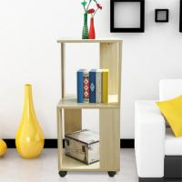 Wholesale Movable Home Office Wooden Book Rack Maple With Two Layer Storage Space from china suppliers