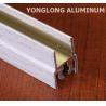 Buy cheap White Wardrobe Aluminium Profile For Cabinets Rectangular Shape from wholesalers