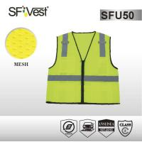 Wholesale 100% polyester mesh and 5cm reflective tape traffic warning and road safety vest ANSI/ISEA 107-2010 from china suppliers